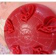 真っ赤な石鹸でくるりんのバラ