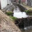 立体交差する水路・山形県長井市