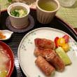 豚肉のねぎ巻きの夕ご飯