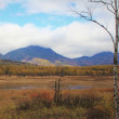 秋色湿原、幻の湖