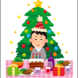 ネイルサンプル_クリスマスシールネイル