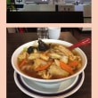 今日はとても寒いので桂林餃子で五目麺を食べます。体を温めます。