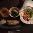 晩御飯は北海道から持ち帰ってきた鯖