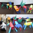 幼児クラス:動物紙工作と忍者のおもちゃ