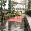 雨の中での練習会