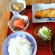 秋茄子のおつゆ・白菜漬け・たらの味噌漬け・・・朝餉