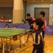 山梨県中学新人交流卓球大会 男子優勝,女子準優勝