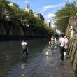 目黒川浄化実験に来ています。