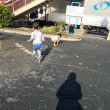 木月小学校バザーのあと、雨上がりの公園で、、、