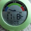 平成29年9月24日・今朝の東祖谷11.7℃