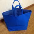 【販売中】ブルーのソフト帆布トートバッグ (商品番号:20170213-1)