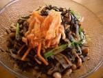 ゆうゆうワイドレシピ < 根菜たっぷり 大豆とひじき煮 >
