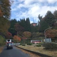 秋の紅葉狩りへの道中