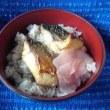 サバ塩焼きなお惣菜で朝ゴミ出したあと朝食したんだね:D