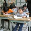 今日、1年生と4年生の道徳の授業を先生方に見ていただきました。