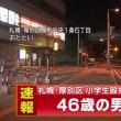 厚別小学生殴打事件 46歳男逮捕