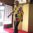 古民家で着物リメイクファッションショー。
