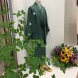 緑色の着物