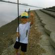 孫とハゼ釣り
