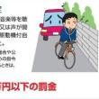 自転車の「安全運転」の再確認を!