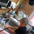 10月24日アポロで献血 タイヤ分割でお得 焼きたてパン 息子のお手伝い