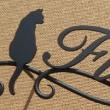 猫ちゃん×向日葵のお花をモチーフにした表札