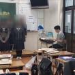 暁秀中学校の卒業式