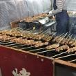 京橋朝市名物 行列のできる 焼き鳥