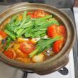 サバの水煮缶活用、スンドゥブチゲ