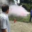 通報訓練、消火訓練を実施