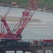 事故発生前、午後1時34分の新名神高速道路淀川架橋工事現場写真