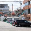 大がかりな再開発。近江町市場裏手。