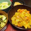 つい最後にカレー粉・根菜と雑穀の煮物・カレー風味