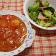 鶏と新玉のトマトクリームシチュー