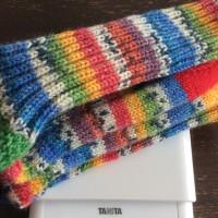 手編み靴下 作品NO.168