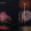 See you next year.【ふじさわ江の島花火大会】昼間の晴天が嘘のような雨