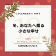 【12月のプレゼント】今年もありがとうございました。