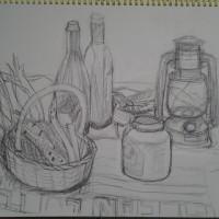 かごの野菜、ビン類トランプ・・・・ひさびさの「久々の投稿」