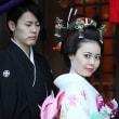 着物で、セレモ二ー ⑤ 飯田の神社での結婚式