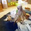 函館「一花亭たびじ」活いか刺定食でいかの踊りにびっくり