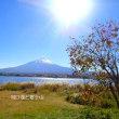 富士河口湖と富士山
