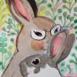 ウサギに変身イラスト😳✨