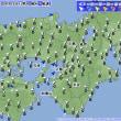 8月18日 アメダスと天気図。