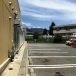 駐車場から見る浅間