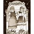 絵画販売・ペン画原画「可愛い二人」
