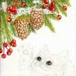 途中経過2 (クリスマスツリーと子猫)