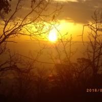 2018.02.03   山へ。少しずつ日の出が早くなる。