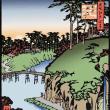名所江戸百景 王子滝の川