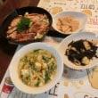 豚テキ&ひじき煮&竹の子土佐煮&酸辣湯スープ