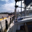 174日目、相馬の松川浦に向けて鮎川漁港を後にする